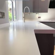 Warsash Corian kitchen installation by Taps and Tubs