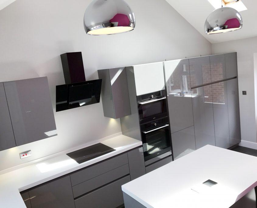 Warsash Corian kitchen installation by Taps and Tubs