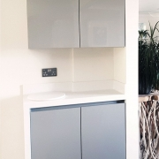 Burlesdon kitchen with Corian worktops supplied by Taps and Tubs